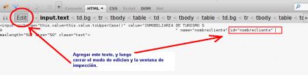 Agregar texto HTML