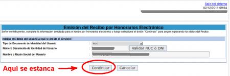 Sunat - Recibo Honorarios Electrónicos