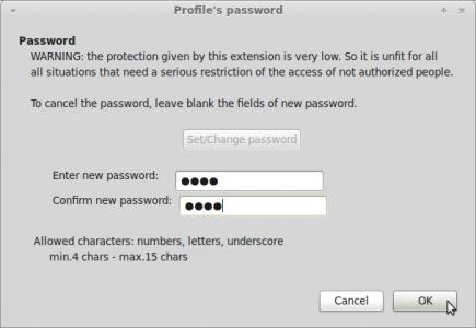 Configurar ProfilePassword para Thunderbird